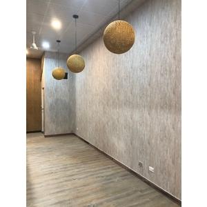 鍋燒麵店-壁紙塑膠地磚施作