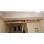 暗架天花板+木作結合
