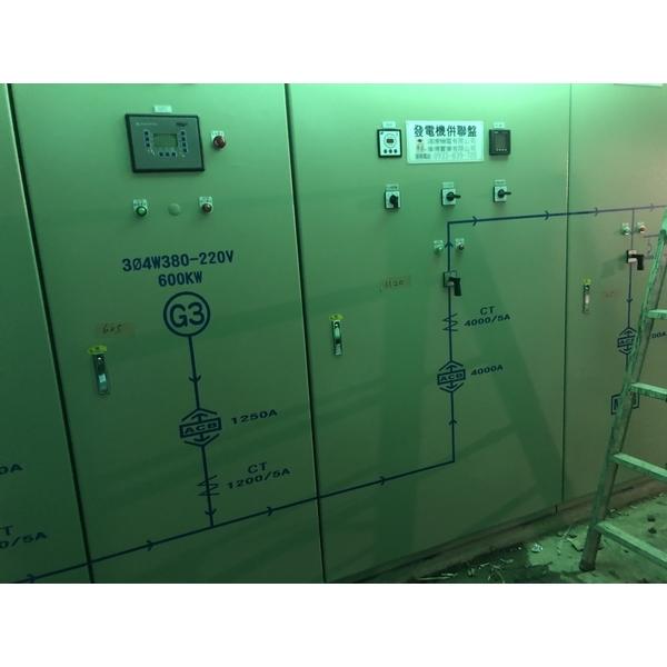 桃園某大百貨公司使用偉成牌三大發電機併聯盤