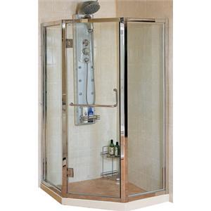 久美居 衛浴設備 五角型 不鏽鋼框 淋浴門