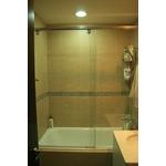 一字型無框橫拉淋浴門 S1-012