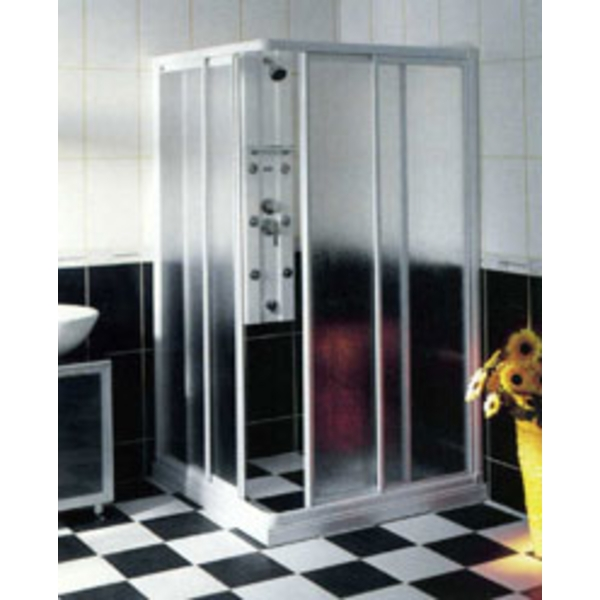 L型有框對開淋浴拉門 S6-010