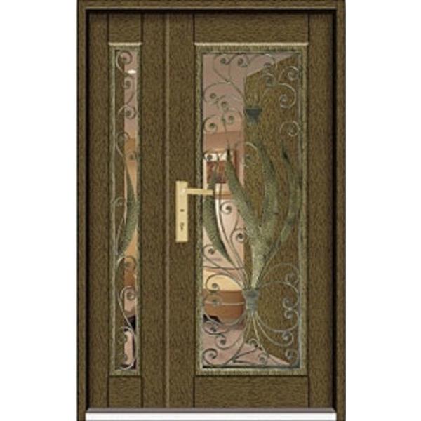 門中門鍍鋅 SDP-1901鍛造黃古銅