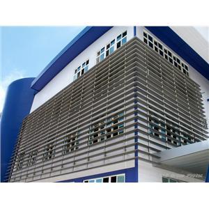 陽明海運公司高雄冷凍倉儲物流中心遮陽格柵