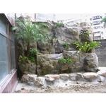 FRP假山水池
