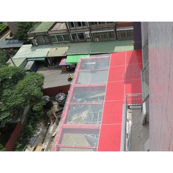 不銹鋼玻璃雨遮6-鉅鈦金屬有限公司-台北