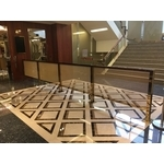 星聚點西門店 5樓鍍鈦欄杆-鴻府金屬工業有限公司-不鏽鋼門,自動門,固定窗,鋁格柵,不鏽鋼捲門,鋁包板
