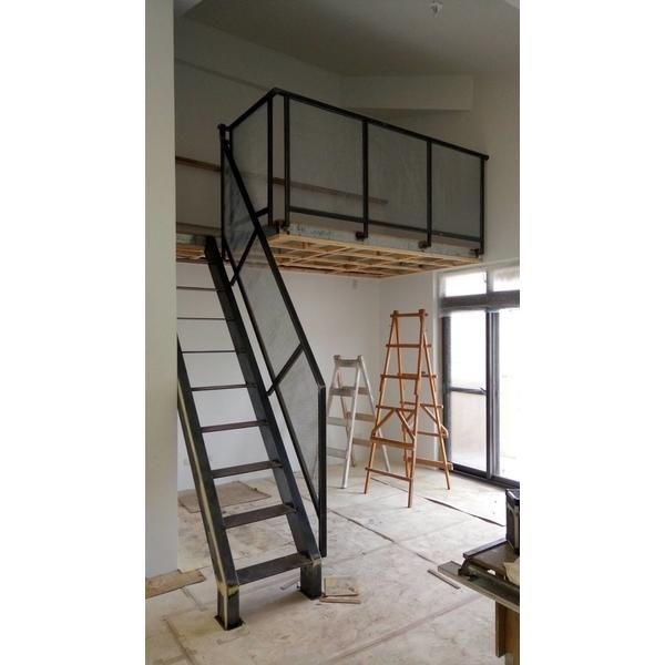 鐵梯+擴張網扶手.-吉利鐵門鋁門窗玻璃行-桃園