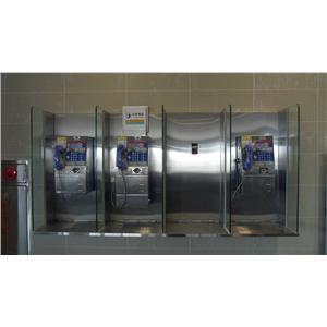 台中清泉崗機場-不鏽鋼包板工程(B1公共電話)