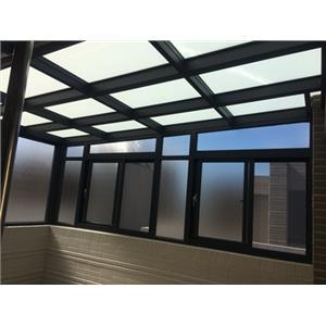 雨遮+玻璃屋