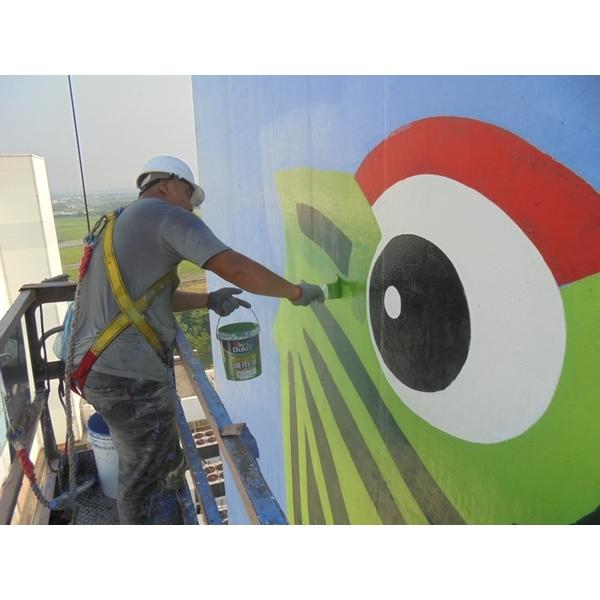 煙囪彩繪油漆工程