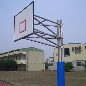 不銹鋼單柱式籃球架-運杰企業有限公司-台中