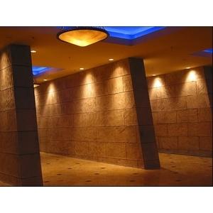 壓花地坪施作於牆面