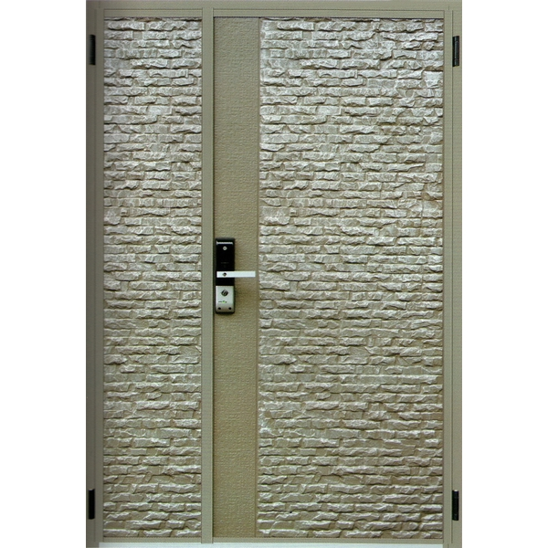 鑄鋁門全板 二丁岩飾