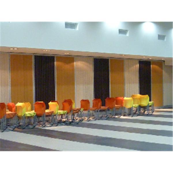 觀音鄉公所禮堂滑動(遮光)板室內面加裝擴散吸音板-蘭滋達企業有限公司-台北
