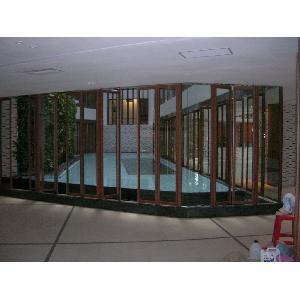 淡水亞太飯店 生態區環繞玻璃摺疊門                   (國產首創 適用空中游泳池)