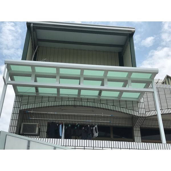 鋁格柵,H鋼安全玻璃採光罩7-長虹鋁業行-台南