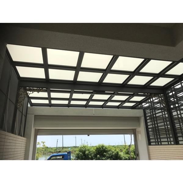 鋁格柵,H鋼安全玻璃採光罩8-長虹鋁業行-台南
