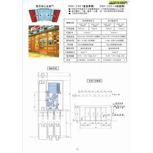 雙扇橫拉重疊門 P-11-鴻運達科技有限公司-台北
