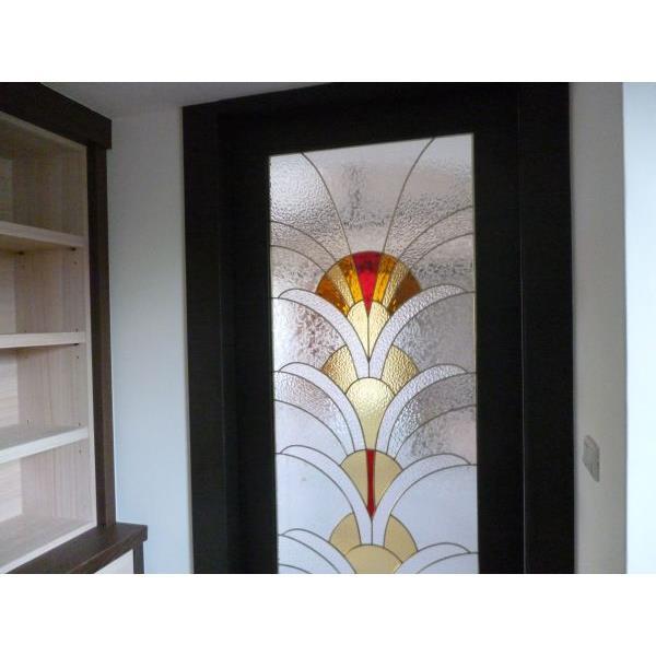 住宅家用書房門(雕花玻璃)