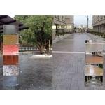 社區公共空間地坪設計-透水蓋,仿木欄杆,透水混凝土,壓花地坪-中華昇揚有限公司