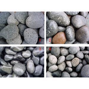 1)芝麻扁石 2)麥飯石 3)黑卵石 4)芝麻卵石-淞博園藝企業有限公司-宜蘭