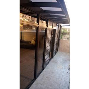 玻璃屋採光罩 & 華家固定玻璃氣密落地