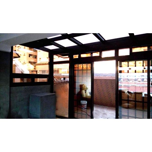 玻璃屋採光罩 &華家固定玻璃氣密落地3-億盛不銹鋼鋁門窗玻璃行-桃園