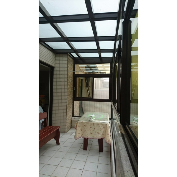 採光罩玻璃屋-億盛不銹鋼鋁門窗玻璃行-桃園