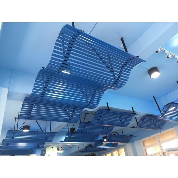 波浪造型鋁天花板-千盟興業有限公司-彰化