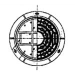 鑄鐵人孔蓋(石磨)