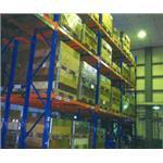 後推式物料架-鐵架,移動櫃,檔案架,貨架,塑膠棧板,免螺絲架-均輝工業股份有限公司