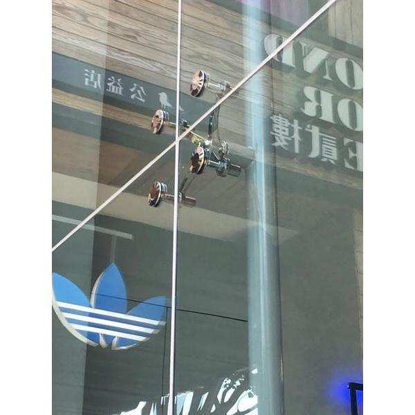 點支式無框玻璃帷幕牆-凱嘉宏企業有限公司-台中