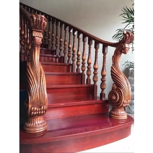 木作樓梯扶手-茂林樓梯扶手地板公司-桃園