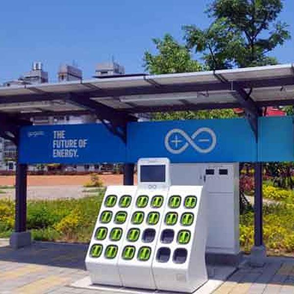 第一座GOGORO太陽能充電站-瑞怡造漆有限公司-桃園