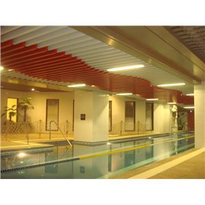 泳池造型鋁障板天花