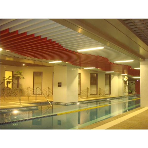 泳池造型鋁障板天花-揚名興業股份有限公司-新北