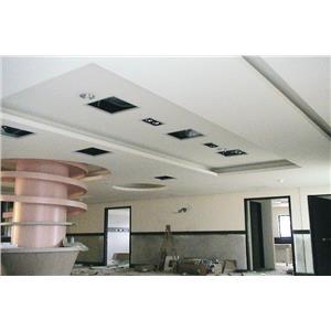 輕鋼架(暗架) 矽酸鈣板造型天花板