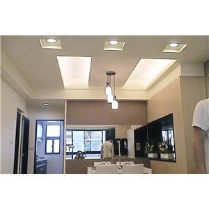 輕鋼架(暗架) 矽酸鈣造型天花板