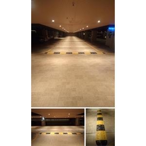 新北市林口區-建案地下停車場  車道安全裝置-車輪檔/減速墊