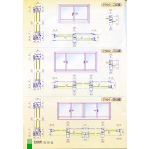 SW951型 鵝牌單層玻璃氣密窗-綠建築企業有限公司-新北