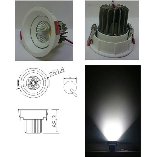 LED  10W內縮防眩 崁燈/挖孔75mm