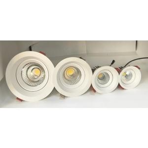 12W崁燈/挖85mm/內縮防眩/可擺動