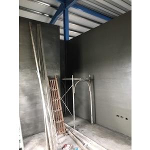 鐵皮屋磚牆隔間泥做3