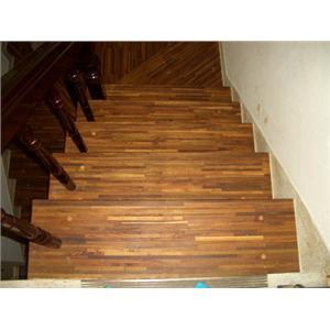 緬甸柚木拼板指接樓梯板