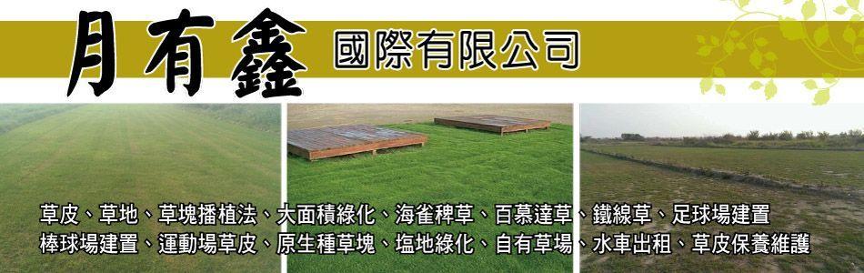 月有鑫國際有限公司-草皮,草地,草塊播植法,大面積綠化,海雀稗草,鐵線草